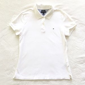 Tommy Hilfiger white polo shirt